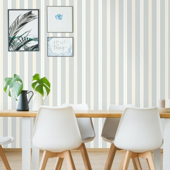 Dunston Stripe Wallpaper Baltic green Ralph Lauren