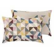 Coussin Harlequin Linen Multi Niki Jones