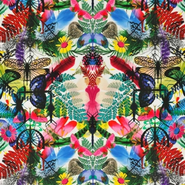 Tissu Caribe Perroquet Christian Lacroix