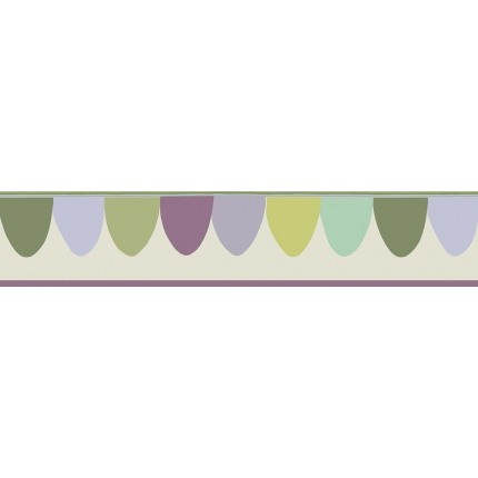 Bordure Scaramouche Cole and Son Vert/Violet 103/8028 Cole and Son