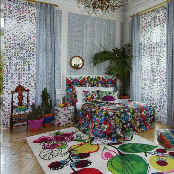 tissu caribe christian lacroix. Black Bedroom Furniture Sets. Home Design Ideas