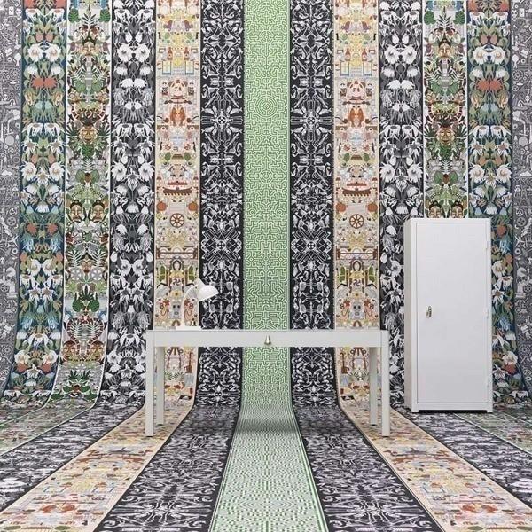 papier peint labyrinth archives nlxl by arte. Black Bedroom Furniture Sets. Home Design Ideas