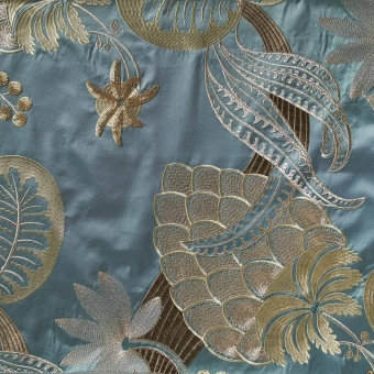 Clorinde Embroidered Embroidered Fabric Barbeau Nobilis