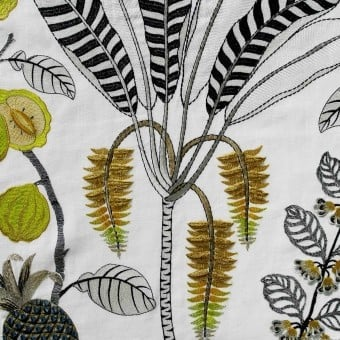 Daïquiri Embroidered Embroidered Fabric Floral Nobilis