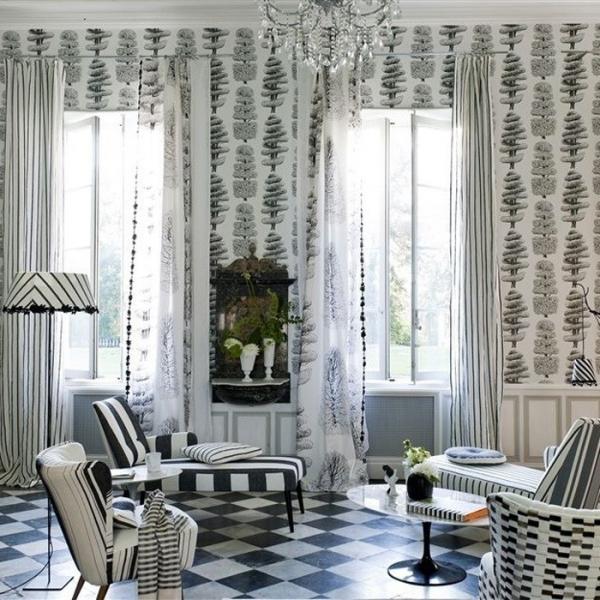papier peint linnaeus designers guild. Black Bedroom Furniture Sets. Home Design Ideas