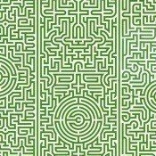 Papier peint Labyrinth Archives Green NLXL by Arte