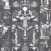 Papier peint Industry Archives Black NLXL by Arte