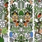 Papier peint l'Afrique Archives Multicolore NLXL by Arte