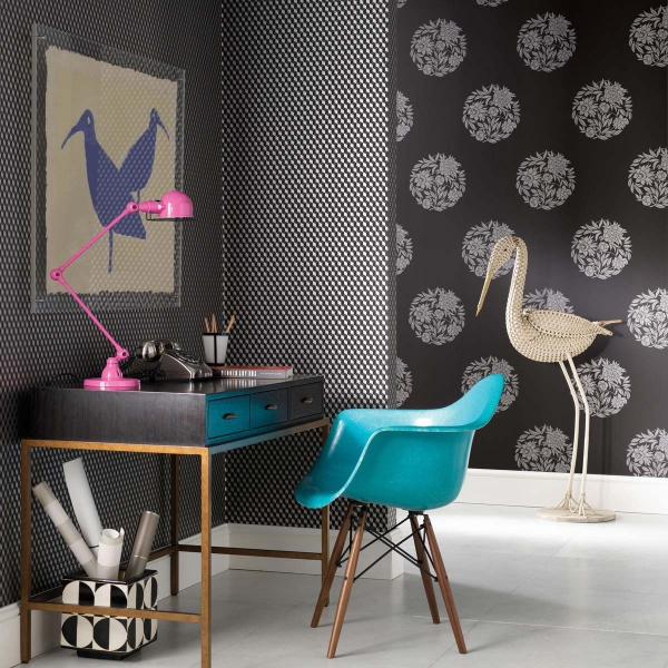 papier peint ravenna osborne and little. Black Bedroom Furniture Sets. Home Design Ideas