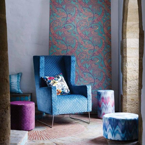 velours mannar osborne and little. Black Bedroom Furniture Sets. Home Design Ideas