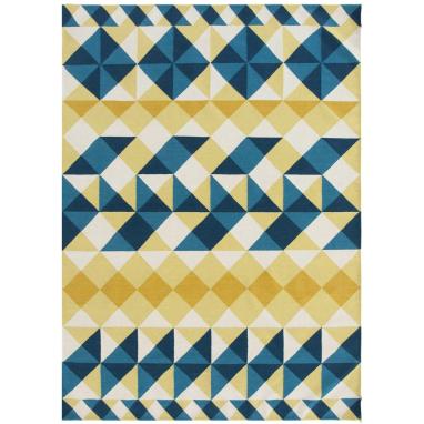 Tapis Mosaiek Kilim Yellow 150x200 cm Gan Rugs