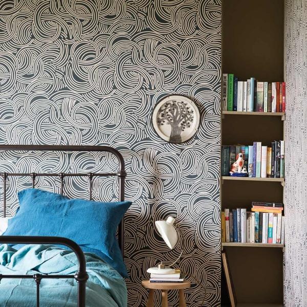 papier peint tourbillon farrow and ball. Black Bedroom Furniture Sets. Home Design Ideas