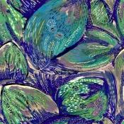 Tissu Fuego Bleu Lalie Design