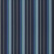 Tissu Webbing Stripe Indigo Designers Guild