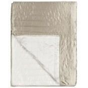 Jeté de lit Tiber Chalk/Linen 230x230 cm Designers Guild