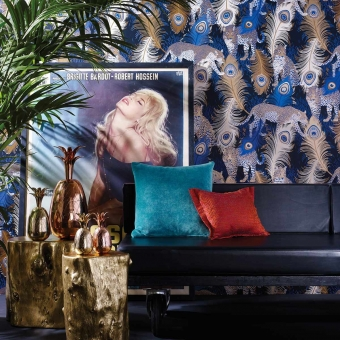 Leopardo Wallpaper Black/Electric/Metallic bronze Matthew Williamson
