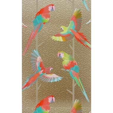 Papier peint Arini Grey/Red/Persian Blue Matthew Williamson