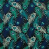 Tissu Plumas Bleu/Turquoise Matthew Williamson