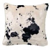 Coussin Cow Blanc/Brun Nobilis