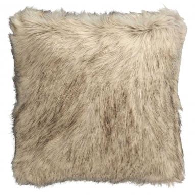 Coussin Cheyennes à poils longs Blanc/Grège Nobilis