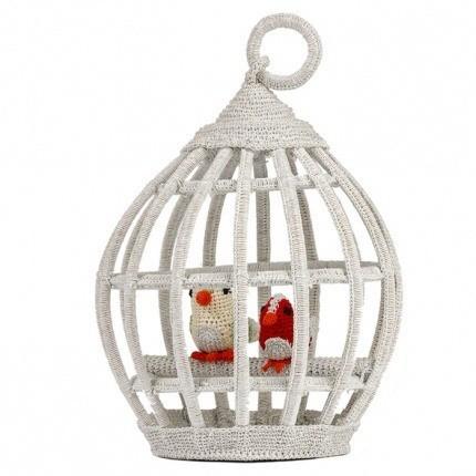 Cage à oiseaux en crochet Anne-Claire Petit New Silver Bird-House-305-019-444 Anne-Claire Petit