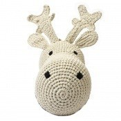Tête de renne en crochet Cream Anne-Claire Petit