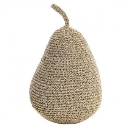 Poire dorée en crochet Anne-Claire Petit Gold Small-Pear-000-024-222 Anne-Claire Petit