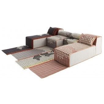 Bandas A Cushion Grey Gan Rugs