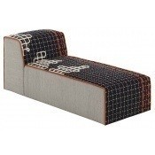 Pouf Chaiselongue Bandas D Black Gan Rugs