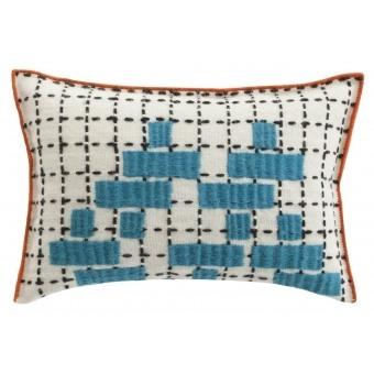 Bandas C Cushion Turquoise Gan Rugs