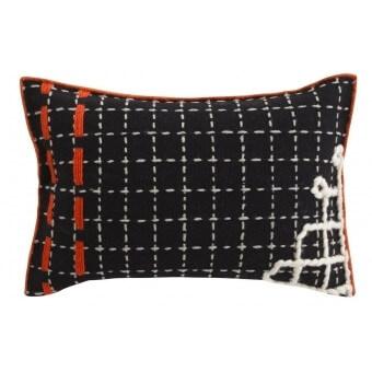 Bandas D Cushion Black Gan Rugs