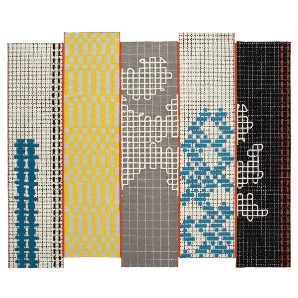 Gan Rugs bandas turquoise rugs - gan rugs