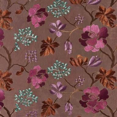 Tissu Bhaya Sun Flower Brown Casamance