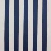 Tissu Sole Bleu/Creme Casamance