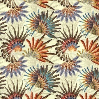 Touraco Fabric Bleu/Multico Casamance
