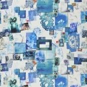 Tissu Follete Bleu de roi Christian Lacroix