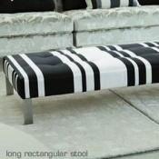 Repose-pieds Domino Domino rectangulaire Designers Guild