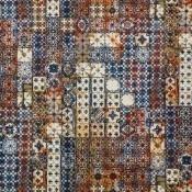 Tissu Azulejos Mandarine Jean Paul Gaultier