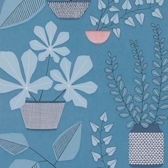 House Plants Wallpaper Gris chaud MissPrint