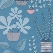 Papier peint House Plants Turquoise MissPrint