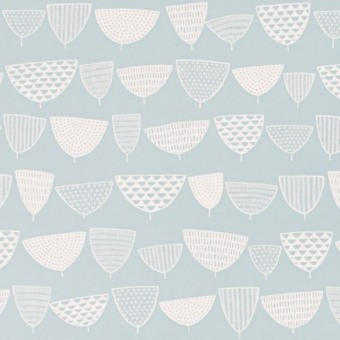 Allsorts Wallpaper Bleu jean MissPrint