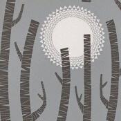 Papier peint Woods MissPrint Bleu azur MissPrint