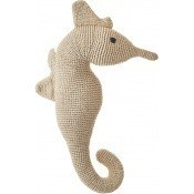 Grand hippocampe en crochet Cream Anne-Claire Petit
