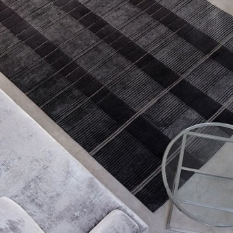 Mittle Gravure gm Rugs Anthracite Nobilis