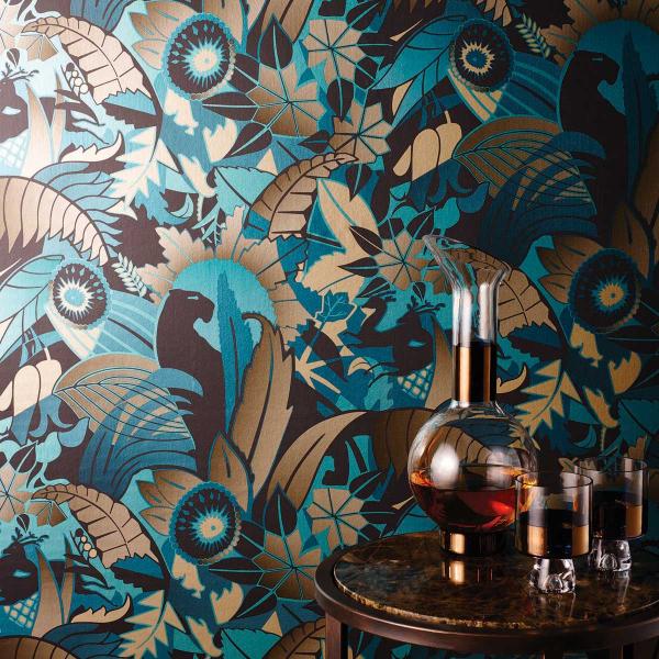 papier peint fantasque osborne and little. Black Bedroom Furniture Sets. Home Design Ideas