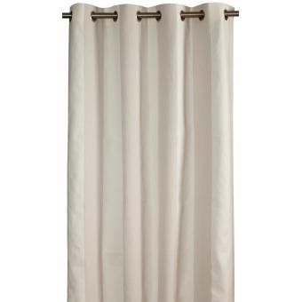 Estoril Curtain Blanc/Gris Toiles de Mayenne