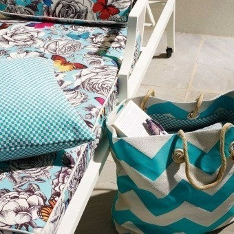 Breeze chevron Outdoor Outdoor Fabric Ficelle Osborne and Little