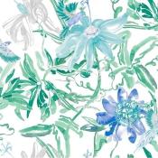 Papier peint Flowers Blue Coordonné