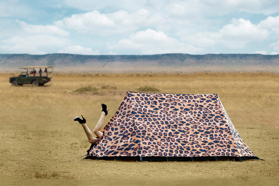 Tente en léopard