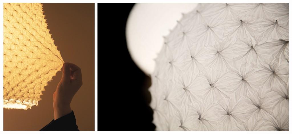 Ces luminaires ont une surface tridimensionnelle hors du commun